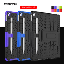 For Ipad Pro 9.7 Case TPU + PC Cover Pad Stand Holder Tablet Holder Armor Fashion Shockproof Shell With Pen Protection YNMIWEI