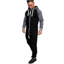 Mannen Sporting Unisex Jumpsuit Een stuk kledingstuk Non Footed Pyjama Playsuit Blouse Hoodie Warm Bont Binnen Winter Sweatshirt(China)