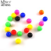 MNFT 200Pcs/Packs Round Fishing Rig Beads Fishing Lure Floating Tackles Bait Stopper Beads 6mm 8mm Mixed Color(China)
