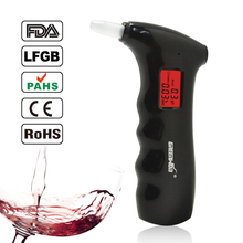 Mini police Alcohol Tester Breathalyzer Alcohol Detector with Red Backlight Digital alcohol tester LCD Display Alcohol analyzer(China)