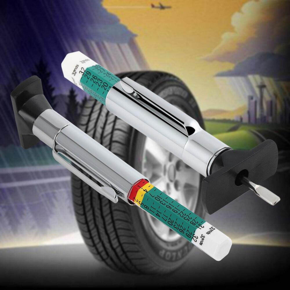 Car Truck Tire Tread Depth Gauge tester Standard Metric Gage Gauge Measures