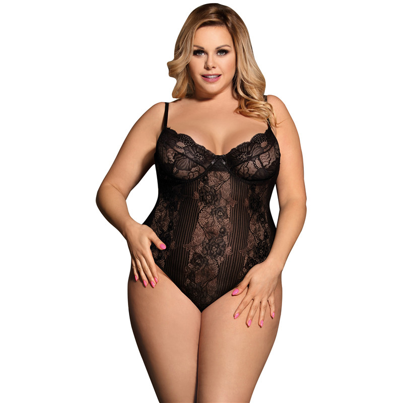 Comeonlover Womens see through bodysuit for women plus size rompers bodysuit  backless sexy clothes for women body teddy RE80536 e024e3068