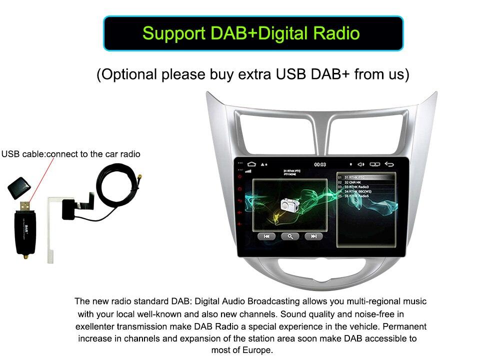 Quad Core Android 6.0 Car DVD GPS Player For Solaris Verna Accent Car PC Headunit Car Radio Video Player Navigatio
