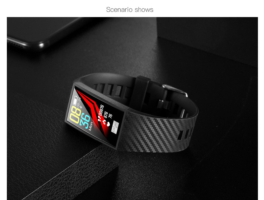 DT58 Smart Bracelet Big Screen Activity Fitness Tracker ECG Band Heart Rate Watch Sports Smart Wristband (17)