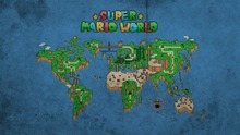 Super Mario World Map Art Silk Poster Art Bedroom Decoration 0741(China)
