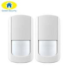 Golden Security 2ps Wireless PIR Detector for GSM PSTN Home Security Alarm System Wireless 433MHz PIR Motion Sensor indoor
