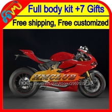 7gifts Fairing For factory red DUCATI panigale 1199 1199S 12-13 3HM24 2012 2013 12 13 1199 all gloss red 1199S Injection  Kit