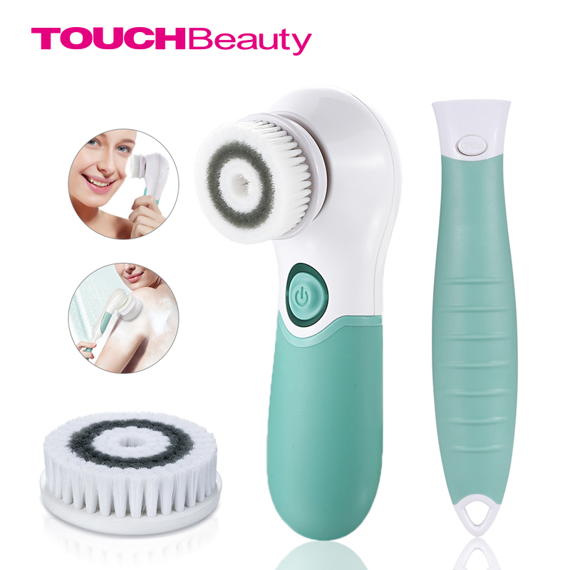 TOUCHBeauty 2 in 1 360 rotating face and body cleansing brush, two speeds cleaner machine shower back spin brush TB-14839<br>