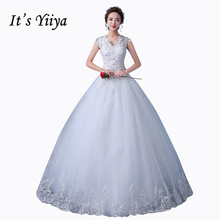 Buy 2017 Real Photo Tulle V-neck Lace Wedding Dresses Cheap Sequins White Plus Size Bride Gowns Custom Made Vestidos De Novia XXN167 for $37.91 in AliExpress store