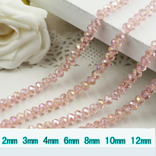 5040 AAA Top Quality Pink Peach AB Color Loose Crystal Glass Rondelle beads.2mm 3mm 4mm,6mm,8mm 10mm,12mm Free Shipping!