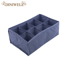 DINIWELL Home Storage Supply Foldable 8 Cell Bamboo Underwear Bra Scarf Ties Socks Organizer Storage Box Drawer Closet Divider