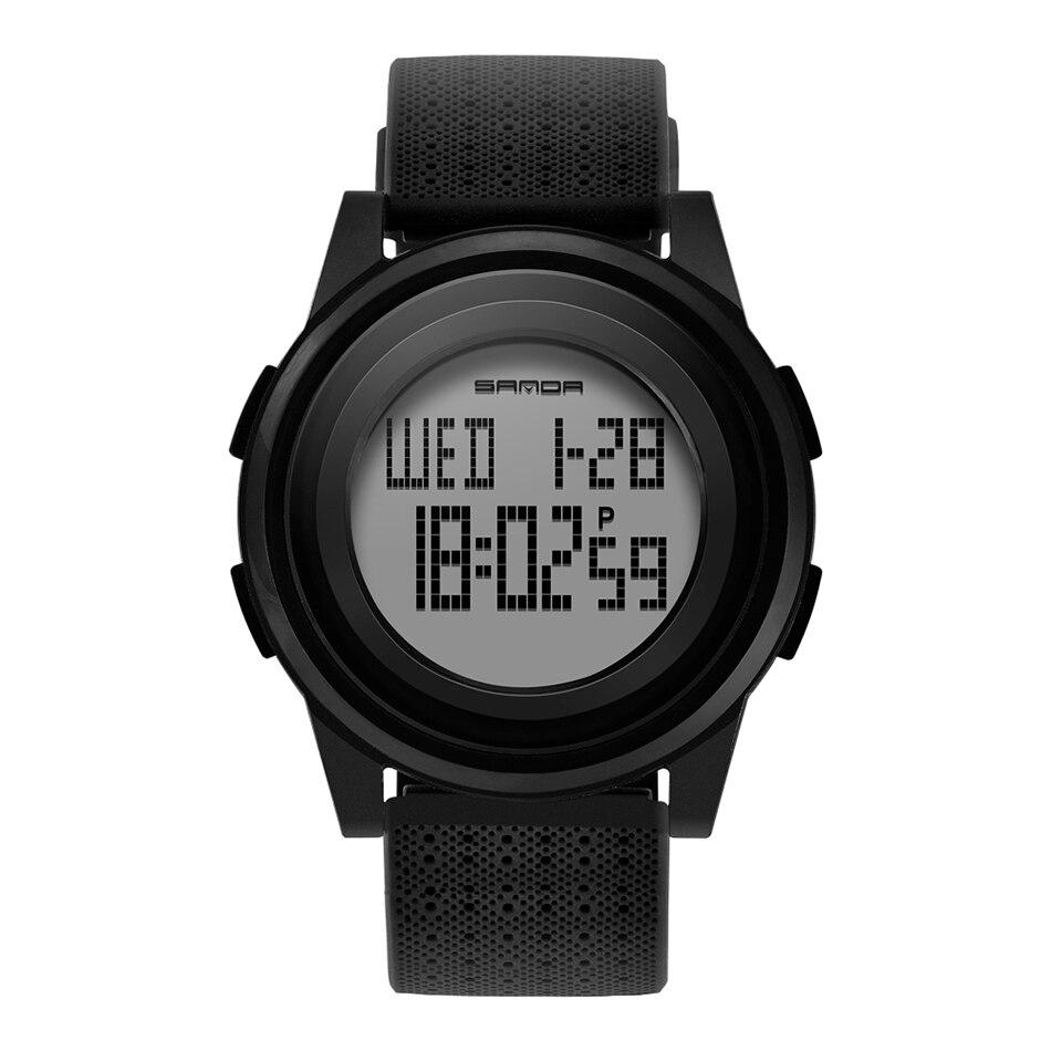 SANDA Fashion Women Sports Watches Waterproof 30m Ladies Ultra Thin LED Digital Watch Swimming Diving Hand Clock Montre Femme 29