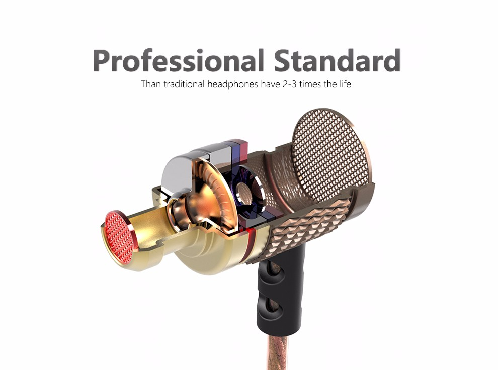 QKZ DM6 Earphones Enthusiast bass In-Ear Earphone Copper Forging 7MM Shocking Anti-noise Microphone Sound Quality fone de ouvido 2