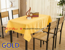 Gold colour jacquard Rectangle square wedding table linens,damask table cover for wedding,hotel tables decoration wholesale