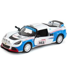 Free Shipping Brand New 1/32 Scale 2012 Lotus Exige R-GT #16 Racing Car Diecast Metal Pull Back Car Model Toy For Gift Children
