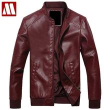 2017 New Fashion Mens stand collar motorcycle PU Leather clothing men's leather jacket male outerwear Jackets Asia S-XXXL C515