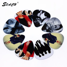 SOACH 10pcs/Lot 1.0mm thickness guitar strap guitar parts Hot band actor pattern mixed packing guitar picks(China)