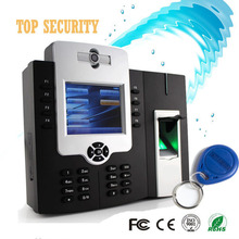 Fingerprint and RFID card standalone time attendance system 9 digital web based built in battery and camera door access control