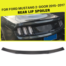 Car-Styling Carbon Fiber Auto Racing Rear Trunk Spoiler Lip Wing for Ford Mustang Coupe 2015-2017(China)