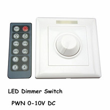 Infrared 12-Key Triac Dimmer 110V 220V Knob PWM 0-10V Triac LED Dimmer Switch for E27 GU10 Dimmable Bulb/Spotlight/ Downlights