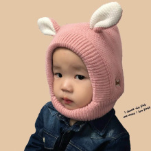 Winter Baby Hat Cartoon Style Ear Crochet Knitted Caps for Infant Boys Girls Children New Fashion Kids Winter Neck Warmer Caps(China)