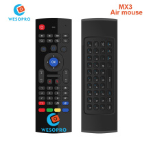 WESOPRO MX3 Portable 2.4G Wireless Remote Control Keyboard Controller Air Mouse for Smart TV Android TV box mini PC HTPC black