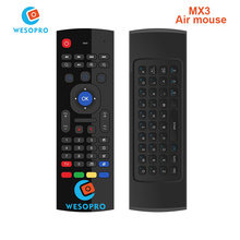 WESOPRO MX3 Portable 2.4G Wireless Remote Control Keyboard Controller Air Mouse for Smart TV Android TV box mini PC HTPC black(China)