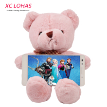 25 cm Pink Plush Bear Cute Phone Holder Kids Baby Sleep Comfort Dolls & Stuffed Toys Soft Bear Baby Toys Girl Birthday Gifts