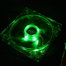 SZYTF  1pcs pc computer fan case cooling fan unit fan 8025 8cm with green LED lights chassis fan 80 * 80 * 25