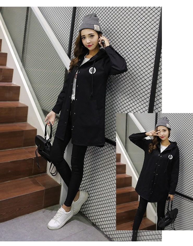 Jackets Women 2019 New Winter Fall Women\`s Basic Jacket Letter Print Coats Outwear Windbreaker Jacket Hooded Chaquetas Mujer (16)