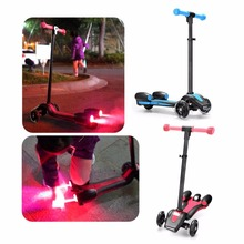 Buy Children's Spray Scooter Foldable Children's Gifts Adjustable Height Photoelectric Spray Anti-Skid PU Wheels drop for $93.13 in AliExpress store