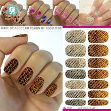 Water transfer stickers golden lines Manicure full beauty nail stickers stickers printing accessories K5642(China)