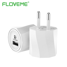 FLOVEME Universal Phone Charger Portable For iPhone X 8 7 Plus Huawei 5V1A Travel Adapter USB Charger Plug For iPad Tablet PC(China)