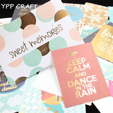 YPP CRAFT 20pcs Sweet Memories Colorful Cardstock Die Cuts for Scrapbooking Happy Planner/Card Making/Journaling Project DIY