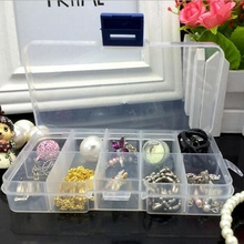 2Pcs Removable Plastic Transparent Store Content Receive Storage Box Necklace Earring Jewelry Container Home Supplies 2017