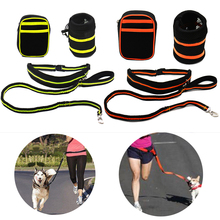 Cheap Waist Pet Dog's Leash Running Jogging Puppy Dog Lead Collar Sport Walking Leash Fitness Harness Traction Hands Free(China)