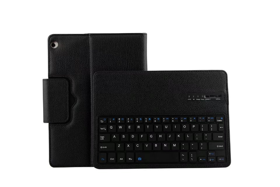 Ultra Slim 2 in 1 Wireless Bluetooth Keyboard Magnetic Leather Tablet Case Cover For Huawei Mediapad M3 Lite 10.1 Inch<br>