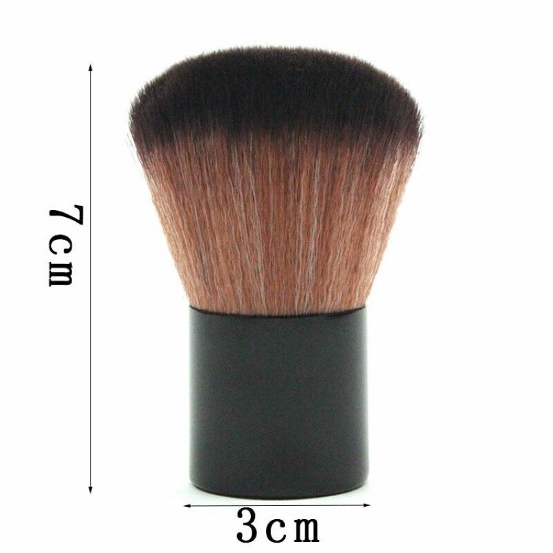 Mayitr 1pcs New Soft Fiber Powder Makeup Round Brush Professional Kabuki Cosmetic Blush Brush Beauty Tool For Makeup