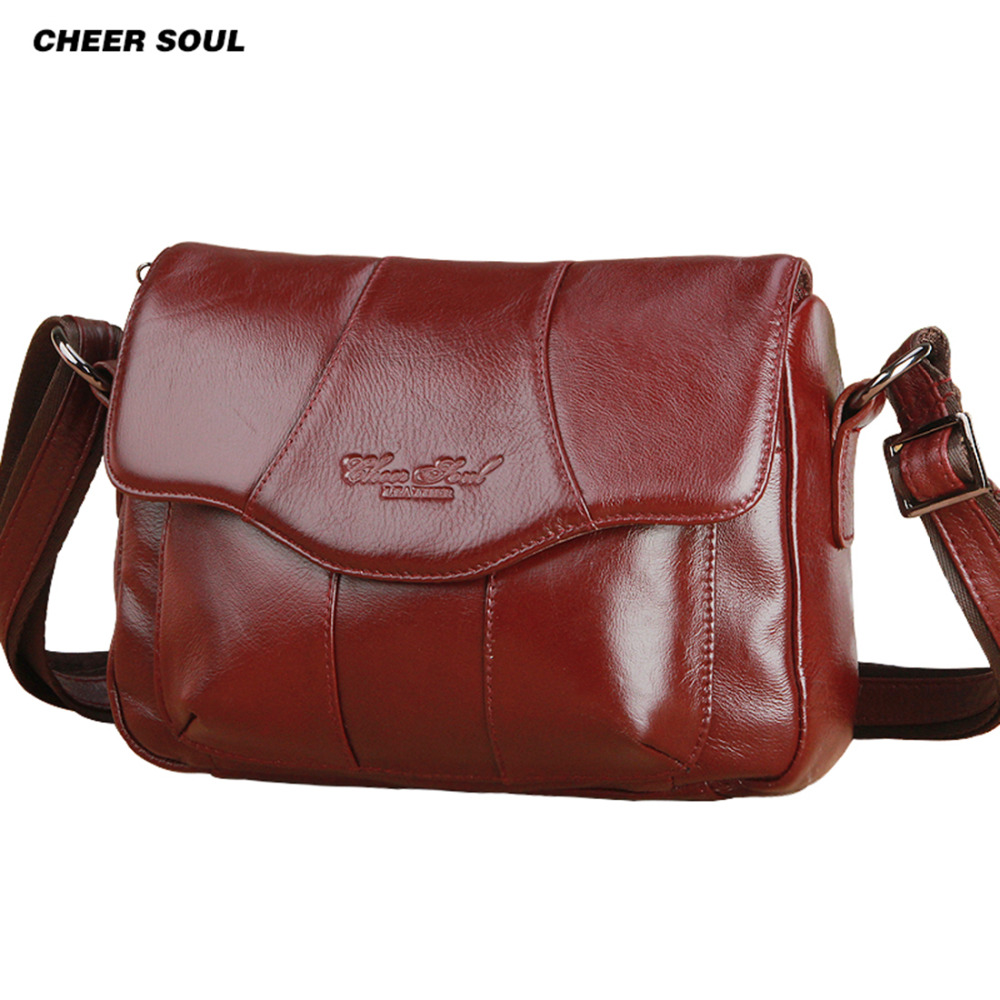 new hot famous brands womens genuine leather bag female casual shopping travel messenger bag for women woman shoulder bag<br>