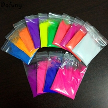 Mixed 5 Colors Neon Powder Fluorescence Pigment Phosphor Powder  Fluorescent  No Glowing in dark Powder for Make up Nail art 50g