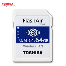 TOSHIBA W-04 Memory Card Wireless LAN 64GB 32GB 16GB WI-FI SD Card U3 UHS Speed Class 3 FlashAir Wireless SD Memory Card(China)
