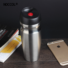 NOCCOL Drinking Water Bottle Coffee Travel Mug Insulated Thermo Sport Flask Camping Outdoor Stainless Steel Vacuum Mugs(China)