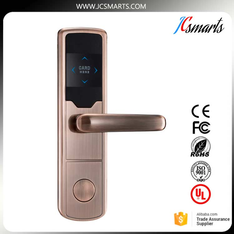 Low price Hotel Room Card Key System smart Hotel lock RFID Electronic Hotel lock intelligent<br>