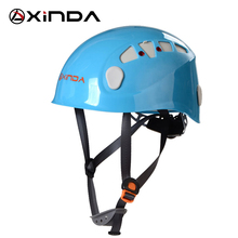 XINDA Camping Mountaineer Rock Climbing Helmet Safety Protection Outdoor Camping & Hiking Riding Helmet Protect Survival Kit