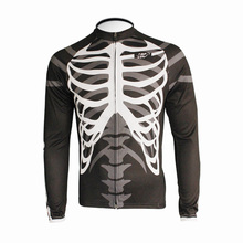 New Men's Long Sleeve Cycling Jersey/Shirts Only EOCLJ06 Skeleton(China)