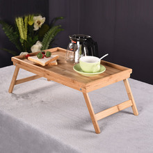 Bamboo Notebook Computer Desk Simple Dormitory Small Study Book Folding Table Tea Diningtable Friendly Multi-purpose Furniture(China)