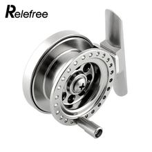 Relefree Aluminum Ice Fishing Reel For Super Strong Sea Ice Fly Fishing Line Wheel Skillful Fishing Accessories(China)