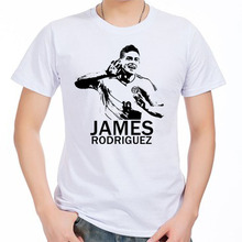 t-shirt James Rodriguez Madrid Bernabeu La Liga Colombia Champions galactico Zidane for 100% cotton new jersey fans