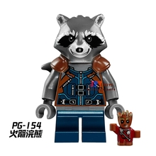 one piece star wars Rocket Raccoon building blocks Guardians of the Galaxy model bricks Baby toy for children brinquedos menino(China)