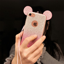 Buy Glitter Minnie Mickey Mouse Ears TPU Case Samsung Galaxy S7 S6 Edge S8 Plus S5 J3 J5 A5 A3 A7 J7 2015 2017 2016 Case Coque for $1.56 in AliExpress store